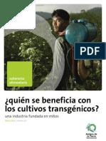¿Quien se beneficia con los cultivos transgénicos?