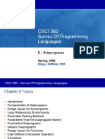 Fundamentals of Sub Programs