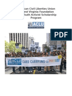 ACLU-WV Foundation Youth activist scholarship Application Form