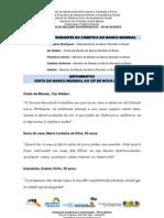 Integrantes Da Comitiva Do Banco Mundial