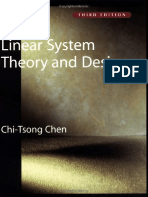 Chi Tsong Chen Linear System Theory And Design 3ed Mathematical Model Operational Amplifier