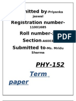 phy152 tp