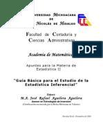 Guía Básica para el Estudio de la Estadística Inferencial AGUILERA AGUILERA