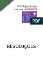 24ª Conferência Interamericana - Resoluções