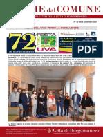 Notizie Dal Comune di Borgomanero del 9-09-2021