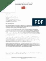 Letter from CFO on Federal Shutdown Letter