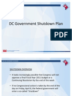 DC Government Shutdown Plan