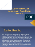Role of contract farming