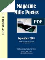 Magazine Mille Poètes - Septembre 2008