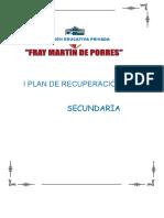 PLAN DE REPROGRAMACIÓN CURRICULAR 2020 - SECUNDARIA  (II BIMESTRE)