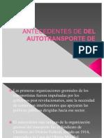 ANTECEDENTES DE DEL AUTOTRANSPORTE DE CARGA