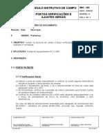 Manual Portas - Ajustes Gerais