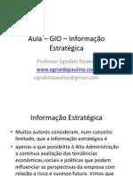 Aula – GIO – Informação Estratégica