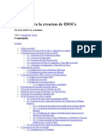 Manual para la creacion de IDOCs