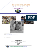 Assignment of Business Plane