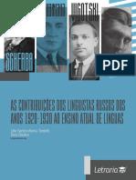 TARDELLI; RIESTRA - As contribuições dos linguistas russos dos anos 1920-1930 ao ensino atual de línguas