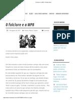 O folclore e a MPB – Revista Ideias