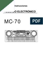 teclado electrico KORG MC-70