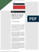 AutoCAD 2013 Aula 06_ Melhorias na interface da linha de comando (command li
