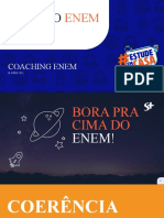 Coaching Enem - 3º Encontro - Nota e Cronograma