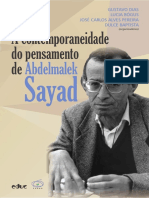 A Contemporaneidade Do Pensamento de Abdelmalek Sayad - PUC SP