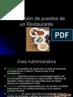 Descripción de puestos de un Restaurante