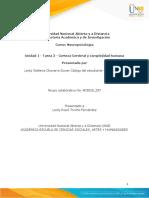 Unidad 1 - Tarea 2 - Corteza Cerebral y Complejidad Humana