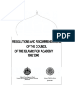 Resolution and Recommendations of the Council of the Islamic Fiqh Academy