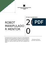 ROBOT MANIPULADOR MENTOR (educacional)