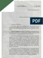 Lettre Georges Adda au Dictateur déchu
