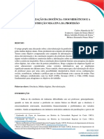 (DES)VALORIZAÇÃO DA DOCÊNCIA