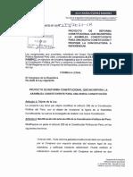 Proyecto de reforma constitucional del congresista Alex Flores (Perú Libre)