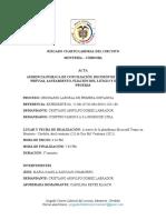 ACTA - JUZGADO CUARTO LABORAL DEL CIRCUITO MONTERÍA