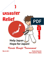 Japan Disaster Relief Karate Tournament Information Packet