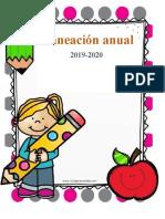 2019-2020 Planeación Anual para Preescolar