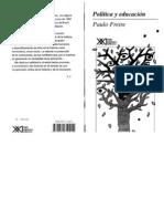 Paulo Freire Politica Y Educacion