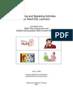 Listening and Speaking Activities