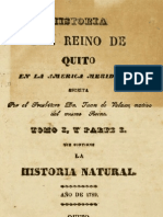 Historia del Reino de Quito en la América Meridional - Vol.1
