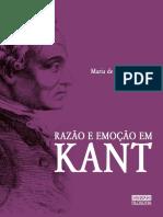 BORGES, M. Razão e Emoção Em Kant