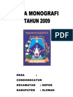 DATA MONOGRAFI DESA TAHUN 2009