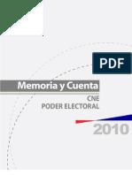 Memoria y Cuenta Cne 2010