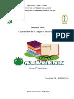 Grammaire de la langue d'étude (GLE)h