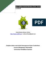 Modul Pengembangan Aplikasi Android Berbasis Client- Server Aplikasi sederhana android Versi 1.0
