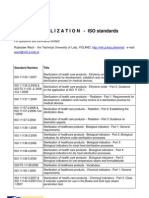 Sterilization ISO standards