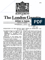 OPERATIONS IN THE MIDDLE EAST FROM 7TH FEBRUARY, 1941 - The London Gazette