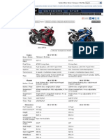 2011 Yamaha YZF-R1 Specifications+Comparison