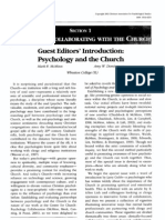 Guest Editors' Introduction - Psychology and the Church