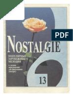 Nostalgie. Популярные Зарубежные Мелодии в Легком Переложении Для Фортепиано (Гитары). Вып. 13