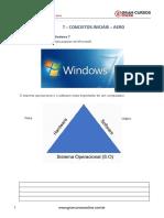 Aula 1 - Windows 7 - Conceitos Iniciais - Aero