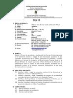 Silabo de Didactica de las Ciencias Sociales 2019-1